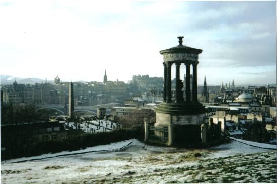 From Carlton Hill - my favourite view of Edinburgh, including most of the city landmarks.